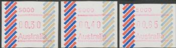 Australian Framas: Barred Edge Button Set 30c, 40c, 85c: Post Code 5000 Adelaide